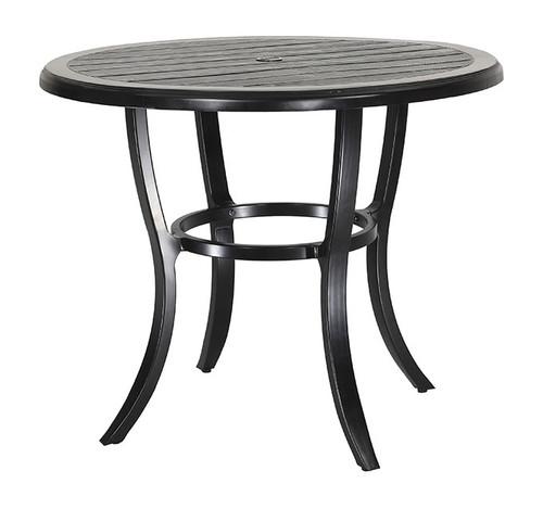 "Gensun Lattice Outdoor 44"" Round Balcony Table"