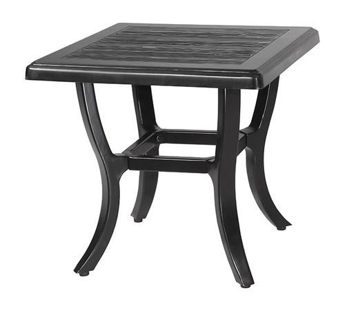"""Gensun Lattice Outdoor 22"""" Square End Table"""