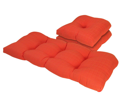 Outdoor Solid Watermelon 3 Piece Cushion Set