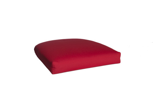 Outdoor Single U Cushion in Sunbrella Canvas Jockey Red