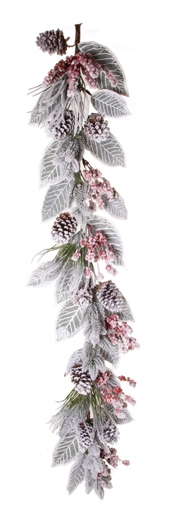 Snow Berry Cone Pine Magnolia Leaf Garland 60 Trees N Trends Home Fashion More