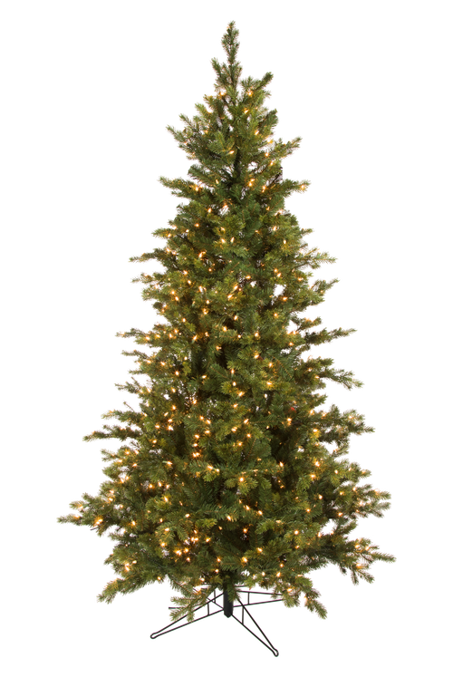 7.5 Grand Noble Fir Prelit Artificial Christmas Tree With