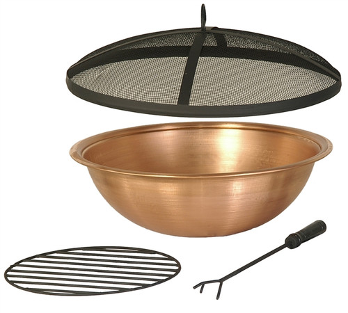 22 Quot Copper Fire Pit Bowl Amp Accessories Kit