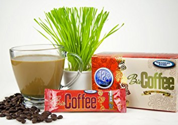 BioCoffee - Healthy Wheatgrass Coffee - 16 Packets
