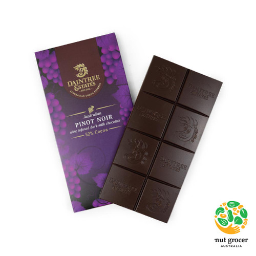 Australian Pinot Noir Wine Infused Dark Chocolate 52%