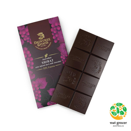 Australian Shiraz Wine Infused Dark Chocolate 52%