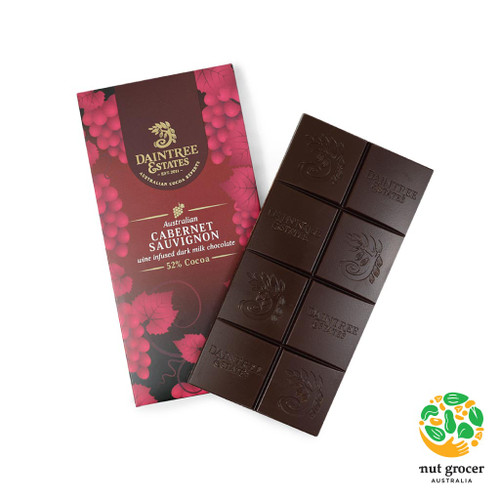 Australian Cabernet Sauvignon Wine Infused Dark Chocolate 52%