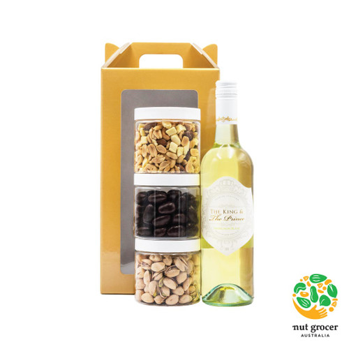 Gift Hamper - Nuts, Chocolate and Wine
