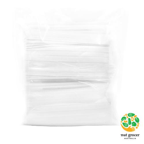 3-Ply Face Masks 50 Pack (White)