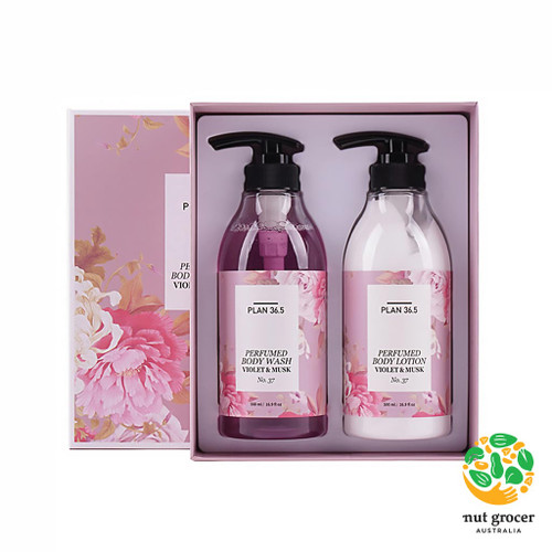 PLAN36.5 Perfumed Body Care Set Violet & Musk