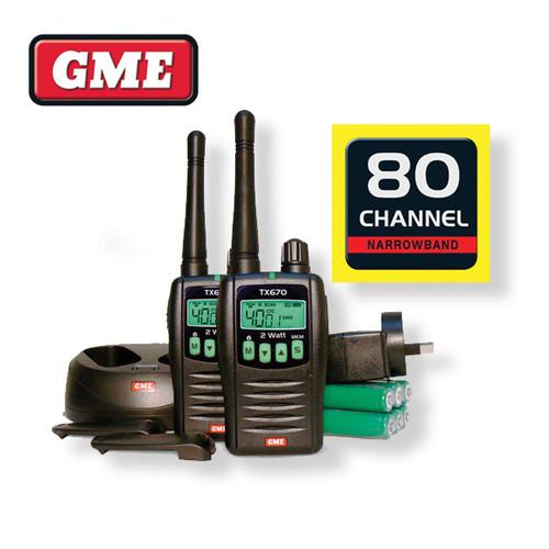 GME UHF 2 Watt Twin Pack