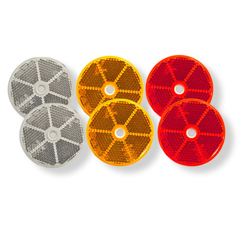 Trailer Reflector complete Pack (Round)