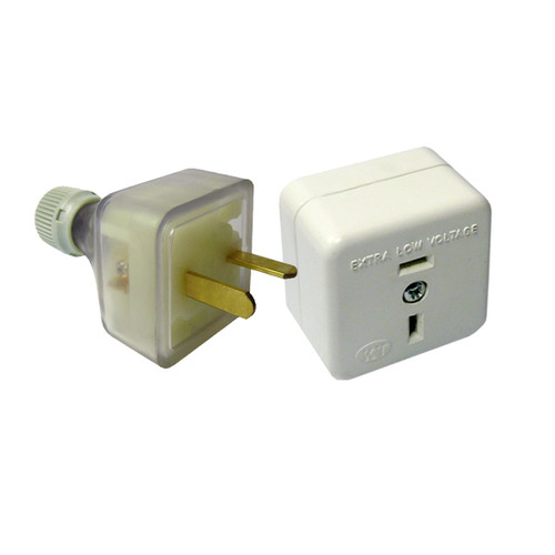 Low Voltage Plug & Surface Mounting Socket Pack (1 of Each)