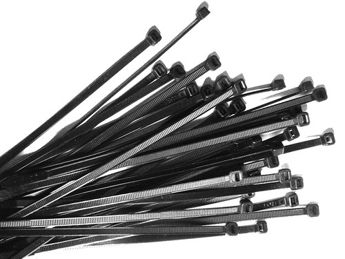 Nylon Cable Ties 430mm Long x 4.8mm Wide, Black, 100 Piece Pack