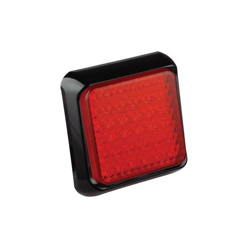 LED LAMP RED STOP/TAIL SQUARE 12-24V