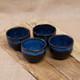 4 Piece Coffee Cups Blue