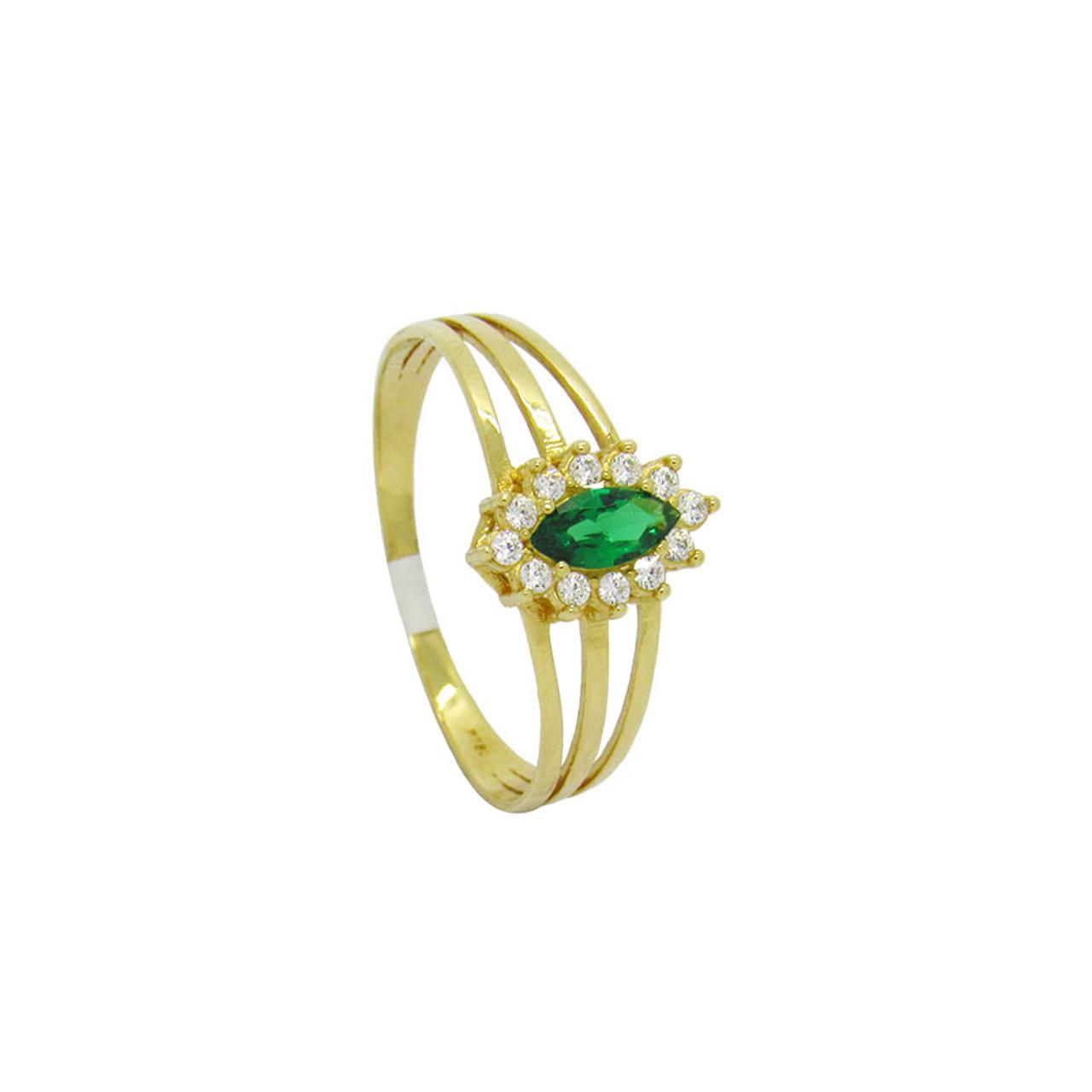 7fb2517a82 Anel de formatura de ouro 18k com zircônia e turmalina verde 9