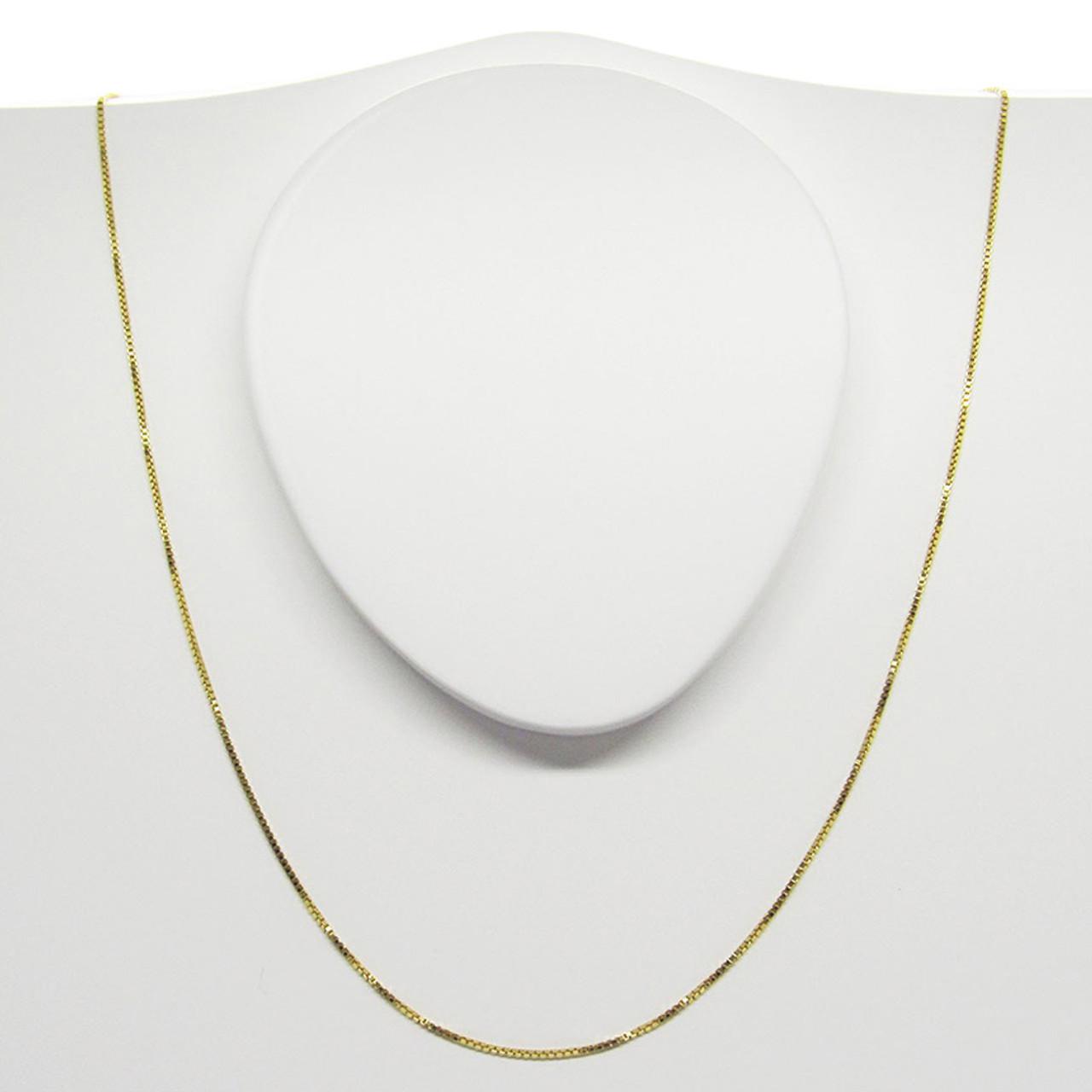 Corrente de ouro 18k Veneziana 1mm com 60cm (CJCO-00000346) 7f1911d538
