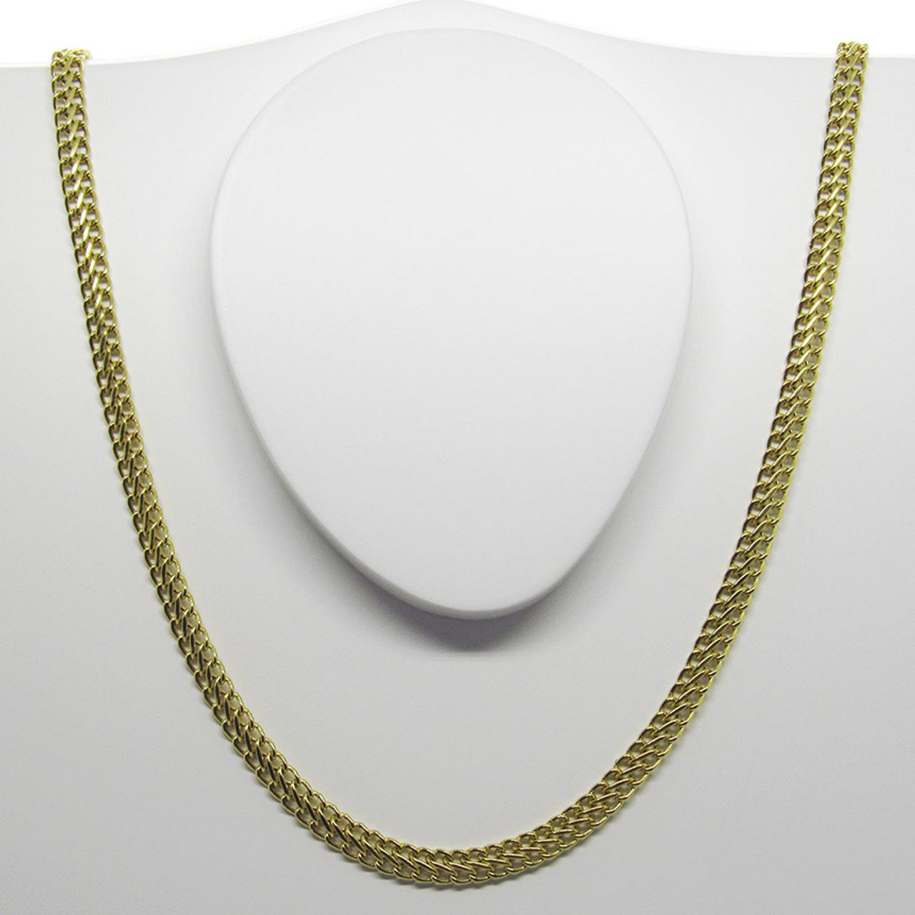 Corrente de ouro 18k Lacraia 4.95mm com 45cm (CJCO-00000380) 359cce723b