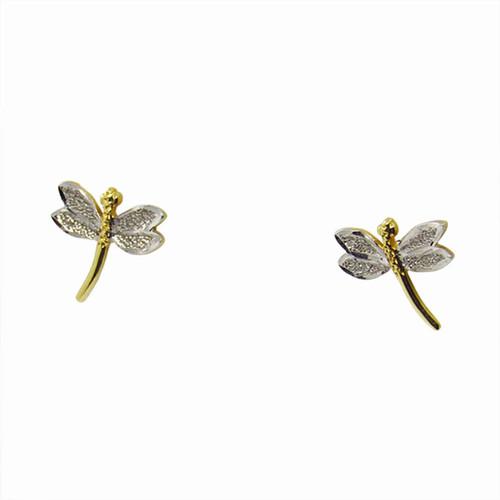 Brinco de ouro 18k libélula 11,40mm