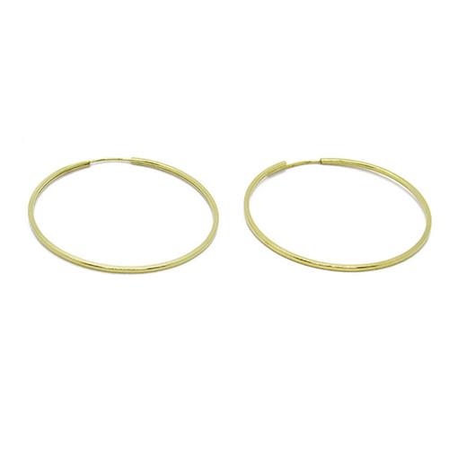 Brinco de argola de ouro 18k redondo 33,67mm