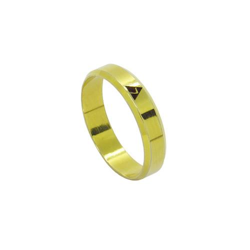 Anel de ouro 18k maçonaria grau 14 fino 4,93mm 4,50g