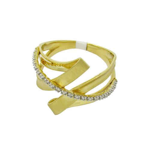 Anel de ouro 18k com brilhantes 19,13mm