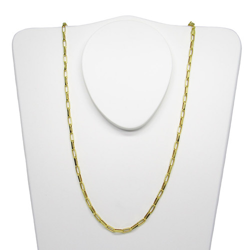 Corrente de ouro 18k cartier alongada 2.85mm com 70cm
