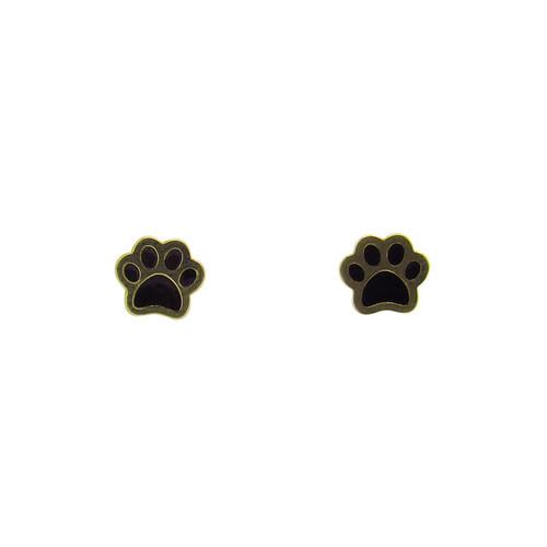 Brinco de ouro infantil 18k patinha 6,20mm