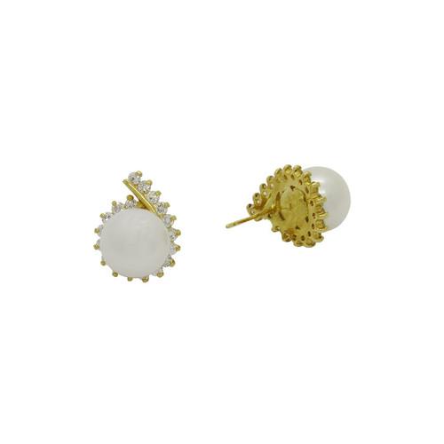 Brinco de ouro 18k perola com brilhante 17,27mm (CJBR-00000759) e390f650cb