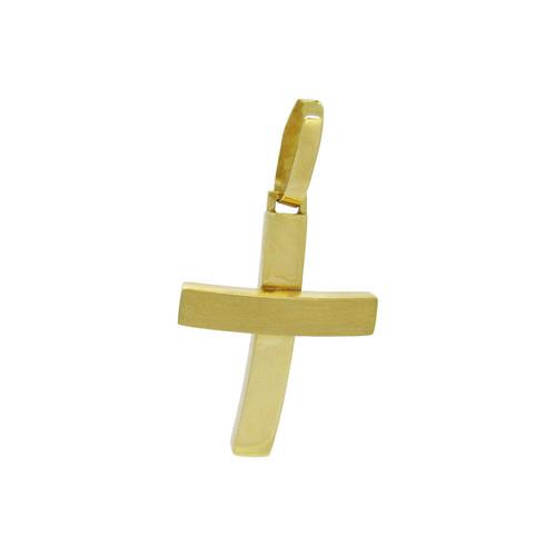Pingente de ouro 18k cruz 26,93 mm
