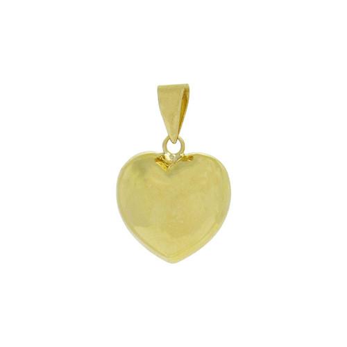 Pingente de ouro 18k coração grande 17,70 mm