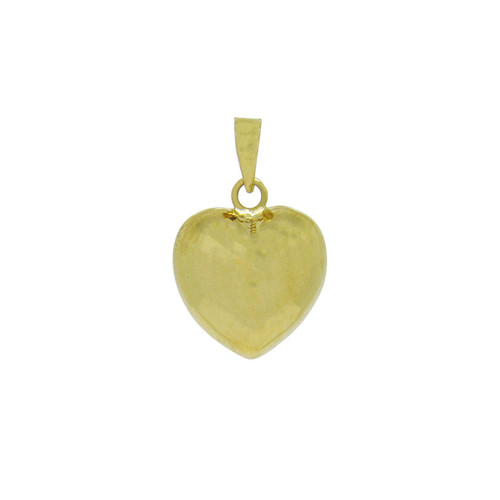 Pingente de ouro 18k coração médio 16,20 mm