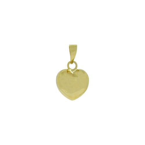 Pingente de ouro 18k coração pequeno 13,30 mm