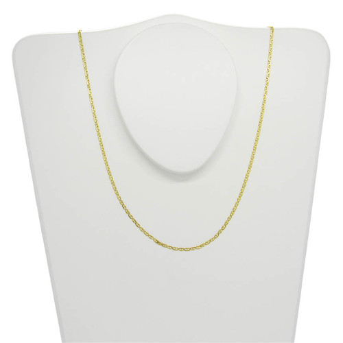 Corrente de ouro 18k piastrine 1,7 mm com 50cm