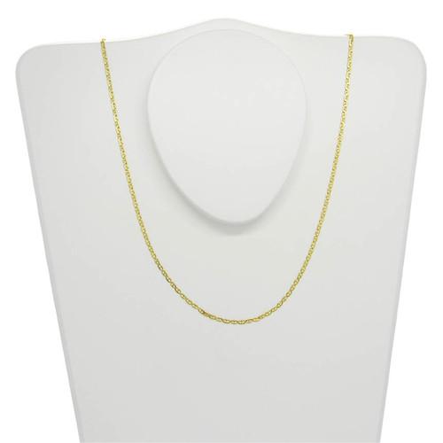 Corrente de ouro 18k piastrine 1,7 mm com 70cm