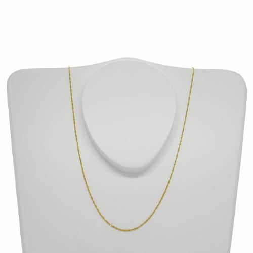 Corrente de ouro 18k singapura 1,1 mm com 60cm