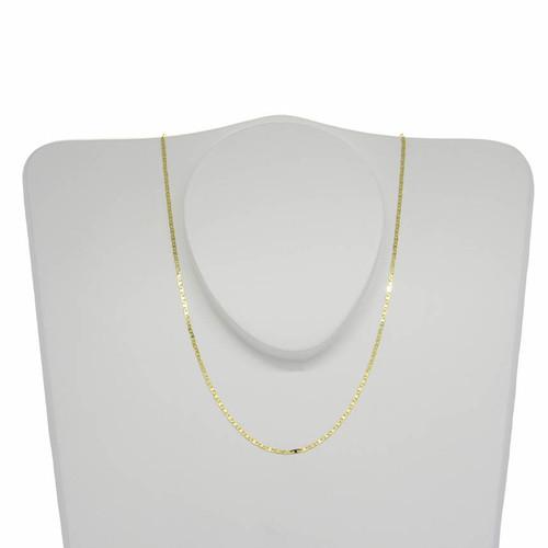 Corrente de ouro 18k piastrine 1,4 mm com 40cm