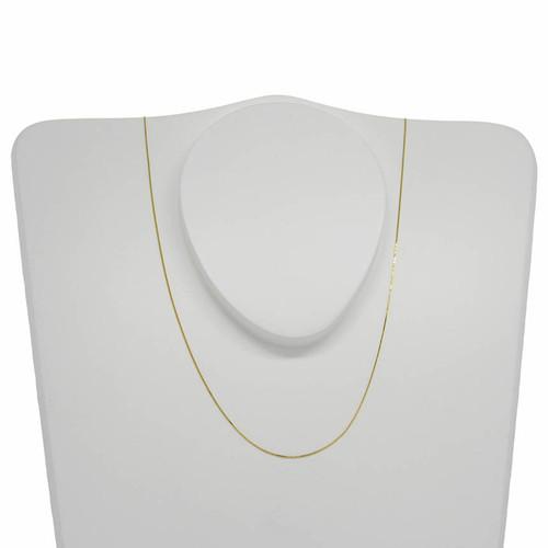 Corrente de ouro 18k veneziana 0,5 mm com 45cm