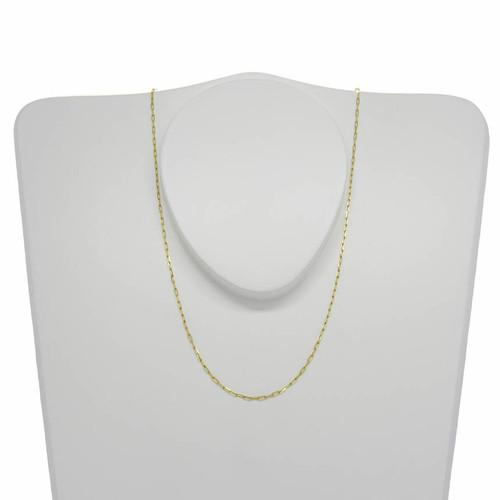 Corrente de ouro 18k cartier alongada 1,1 mm com 50cm