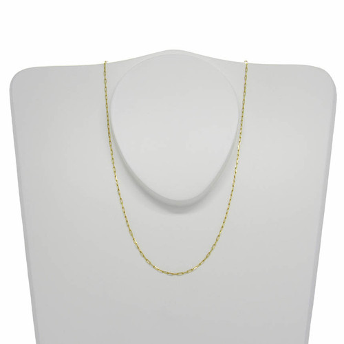 Corrente de ouro 18k cartier alongada 1,1 mm com 60cm