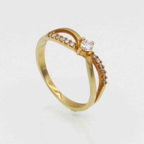 Anel de brilhantes ouro 18k infinito com 22 pts 13 diamantes