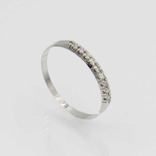 Anel de brilhantes 9 pts 9 diamantes em ouro branco 18k