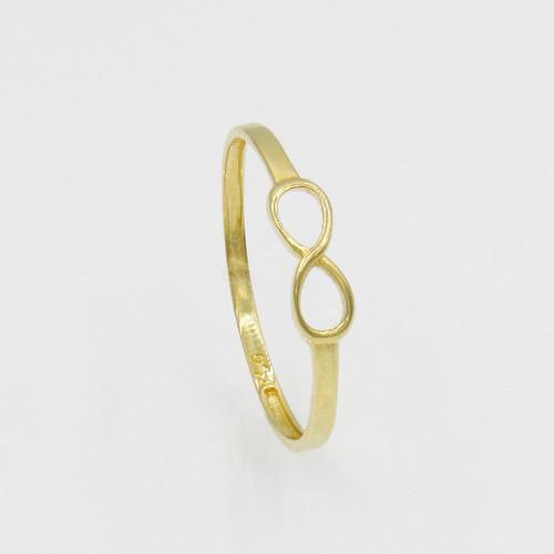 Anel de ouro 18k infinito vazado 3,7 mm
