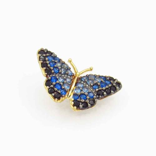 Pingente de ouro 18k borboleta 9,0 mm