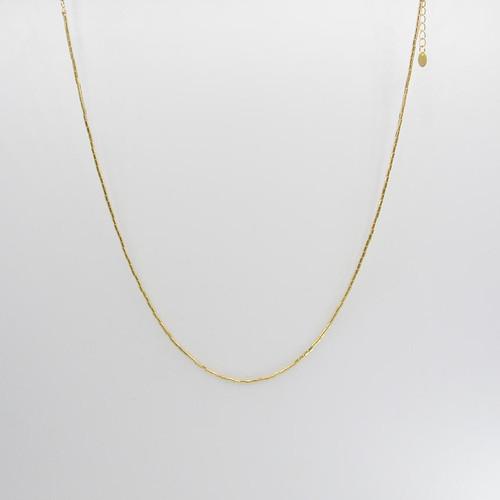 Corrente canutilho liso banhada em ouro 18k 45cm + 4cm