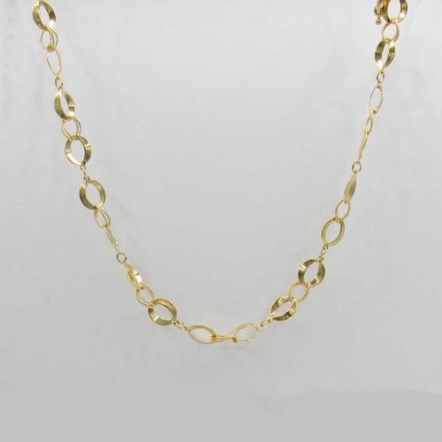 Choker elos trabalhados banhado em ouro 18k  com fecho boia 33cm + 10cm
