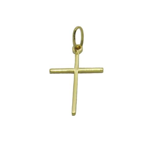 Pingente de ouro 18k cruz palito 25mm