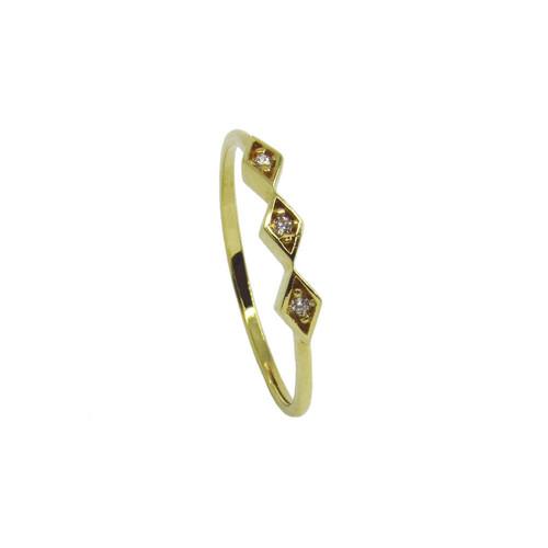 Anel de ouro 18k safira branca
