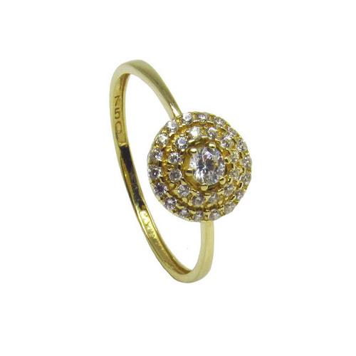 Anel de ouro 18k safira branca 8,80mm